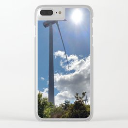 Wind Farm in the Sun Clear iPhone Case