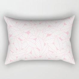 Leaves in Rose Rectangular Pillow