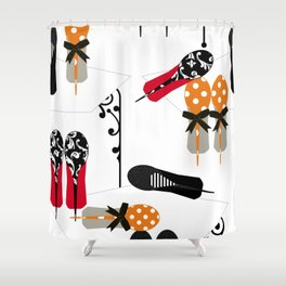 But, those shoes! Shower Curtain