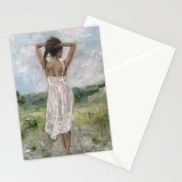 White Nightgown Stationery Cards