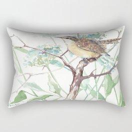 Carolina Warbler in the Field Rectangular Pillow