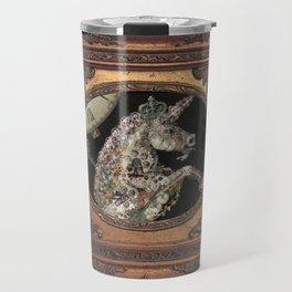 cadre - unicorn - licorne - unicorno - 獨角獸  Travel Mug