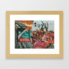 Sea Missile Motel Framed Art Print