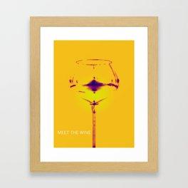 Meet The Wine Framed Art Print