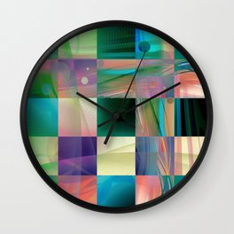 Abstract Exclusion Pattern Wall Clock