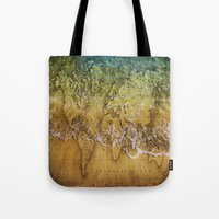 maps Tote Bags featuring Maps by liberthine01