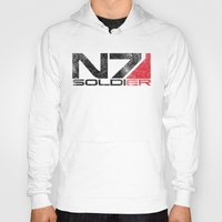 n7 Hoodies featuring Alt Soldier by Draygin82