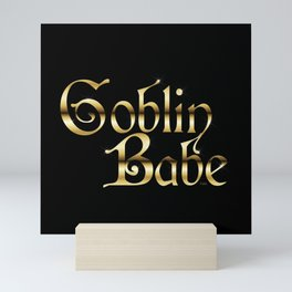 Labyrinth Goblin Babe (black bg) Mini Art Print