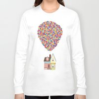 pixar Long Sleeve T-shirts featuring Up by LOVEMI DESIGN
