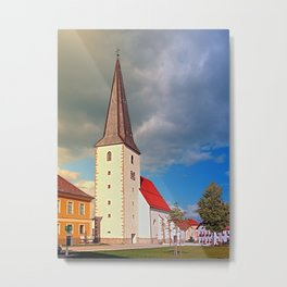 The village church of Schenkenfelden III | architectural photography Metal Print