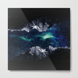 Lost in a world of dreams and mountains Metal Print