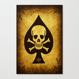 Death Card Ace Of Spades Canvas Print