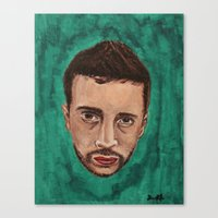 tyler spangler Canvas Prints featuring Tyler  by Lorenapppppp