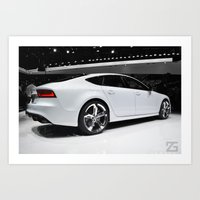 audi Art Prints featuring Audi A7 (2013 NAIAS) by ZGphotography