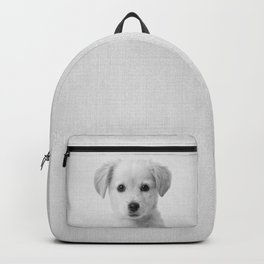 Golden Retriever Puppy - Black & White Backpack