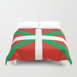 Flag of Euskal Herria-Basque,Pays basque,Vasconia,pais vasco,Bayonne,Dax,Navarre,Bilbao,Pelote,spain Duvet Cover