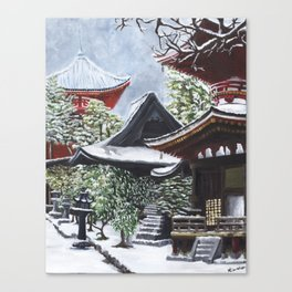 Temple in the Snow Canvas Print