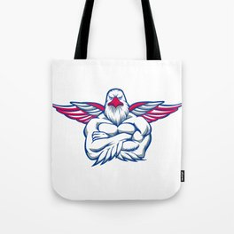 hawk spreading the wings Tote Bag