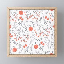 Red Berry Floral Framed Mini Art Print