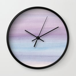 Pastel Watercolor Dream #1 #painting #decor #art #society6 Wall Clock