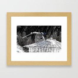 Black and White Ninja Turtle Leonardo Framed Art Print
