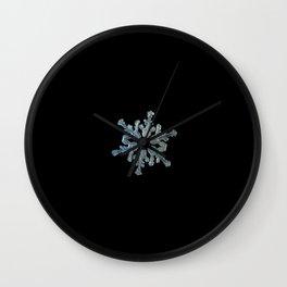 Real snowflake macro photo - 13.02.17 2 black Wall Clock