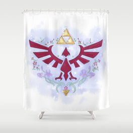 Hylian Sigil Shower Curtain