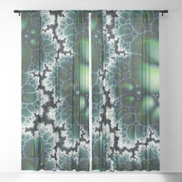 Featherscape Fractal Sheer Curtain