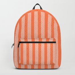 Living Coral Color Doodle Stripes Backpack