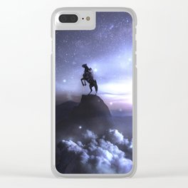 Whisper to the dark what you're up to ... Clear iPhone Case