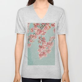 Blossoming Candy Branches Unisex V-Neck