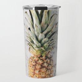Pineapple Marble Background Travel Mug