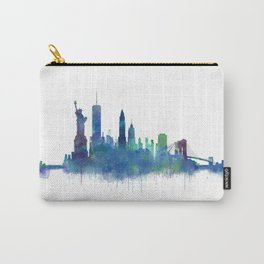 NY New York City Skyline NYC Watercolor art Carry-All Pouch