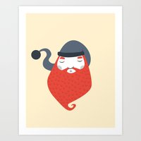 beard Art Prints featuring Beard by Volkan Dalyan