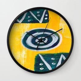 Swirls & Aztec Wall Clock