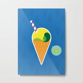 Ice Cream - CosmoLOL!icious Metal Print
