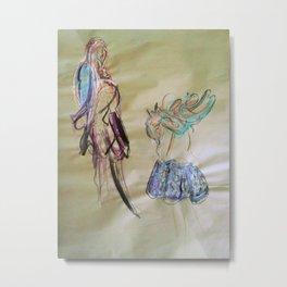 5 minute fabric renderings  Metal Print
