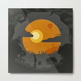 Spooky landscape Metal Print