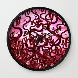 Snake Inferno Wall Clock