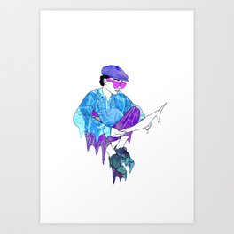 Vaporwave edit 2 Art Print