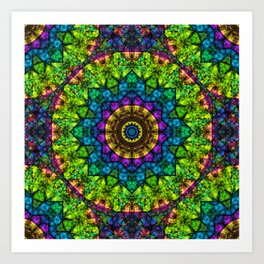 kaleidoscope Crystal Abstract G50 Art Print