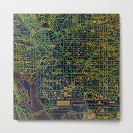 Old Map Washington 1945 Green Map Metal Print