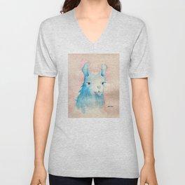 Blue Llama Unisex V-Neck