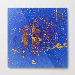 Free Azura! Cobalt Gold Modern Abstract Metal Print
