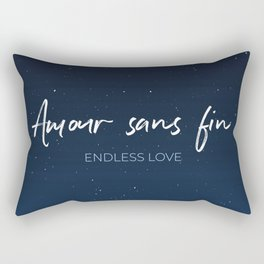 Amour sans fin - Endless Love -  Romantic French Idiom Translate Rectangular Pillow