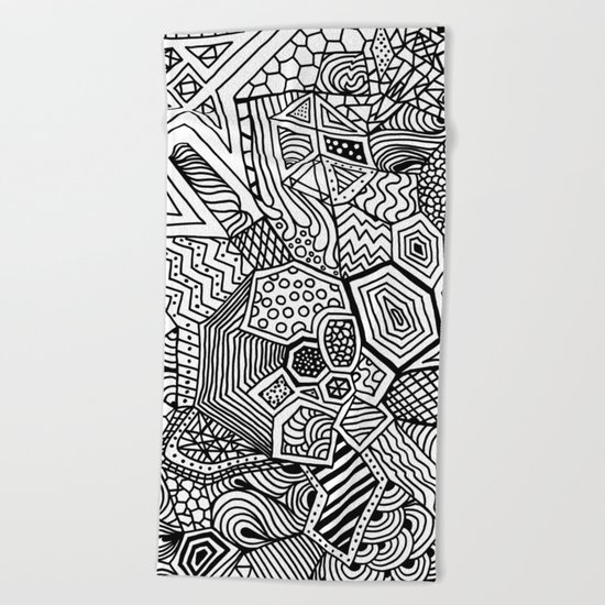 Lucky Abstract Geometric DREAM CATCHER Beach Towel