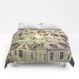 Alesund Rooftops // Norway Comforters