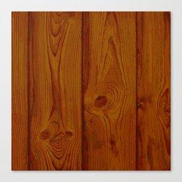 Deep Reddish Wood Pattern Canvas Print