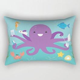 Under the Sea Octopus and Friends Rectangular Pillow