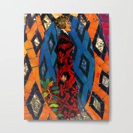 Lady Villain Mosaic Tile Abstract Metal Print